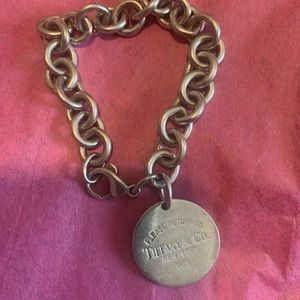 Tiffany&Co round tag bracelet authentic